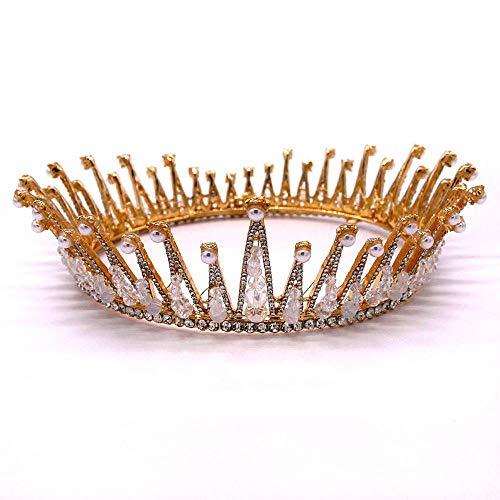 Y-XM Tiara de Novia Corona de Princesa de cumpleaños Barroco con Tocado...