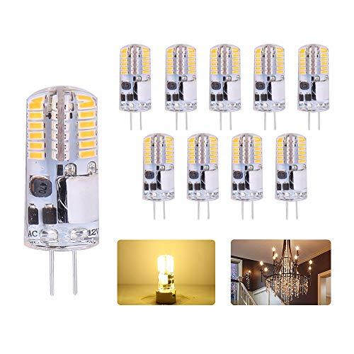 ELINKUME G4 LED Leuchtmittel 2W LED Birne mit Warmweiß(2700K) 12V AC/DC LED Stiftsockllampe 150LM G4 Led Lampen Ersetzt 20W Halogenlampen, 10er Pack [Energieklasse A+]
