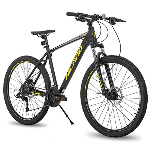 Hiland 27.5 Inch Mountain Bike 27-Speed MTB Bicycle for Man with 19.5 Inch Frame Lock-Out Suspension...