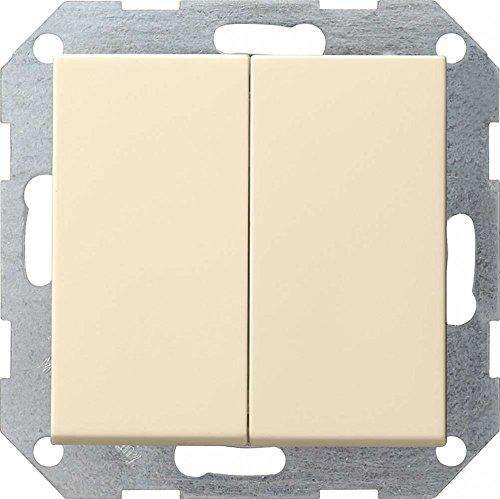 Gira 012501 Tastschalter Serien System 55, cremeweiß