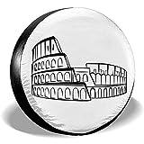 yyndw Reifenabdeckung Icona Roma Reserveradabdeckung Polyester Universal Radabdeckungen Für SUV Rv Reiseanhänger Zubehör LKW Anhänger 16'