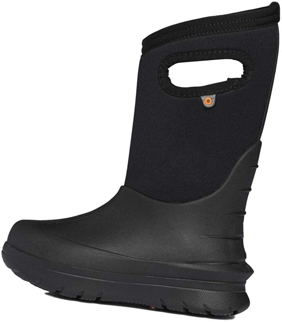 Bogs Neo-Classic Solid Insulated Rain Boots for Kids, Black