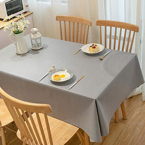 Nice-DoormatsMantel de Tela Impermeable y Anti-escaldado Mantel de Mesa de café Estera de Mesa de Escritorio-Tela Gris_El 140 * 180cm