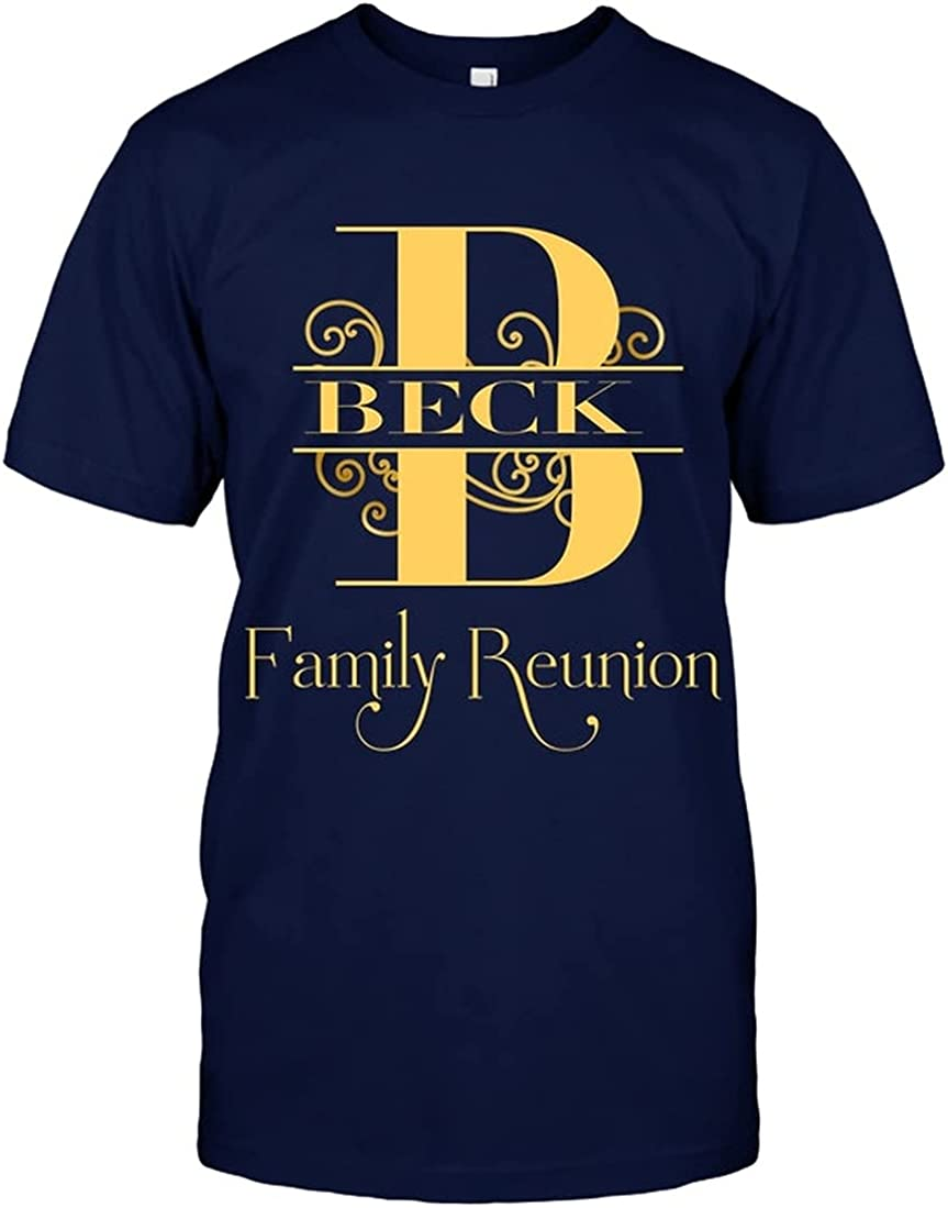 NEW before selling ☆ Beck Shirt Family Crest Reu Name Selling Personalized