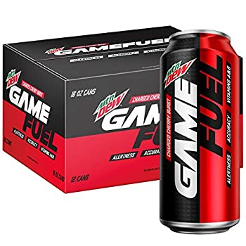 Mountain Dew Game Fuel Charged Cherry Burst 16 Fl Oz Cans  12 Pack   Packaging May Vary  192 Fl Oz