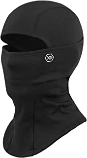CoolChange Thermal Ski Balaclava Winter Face Mask for Men Women Biking Motorcycle Balaclava Neck Warmer Cold Weather Black, Medium