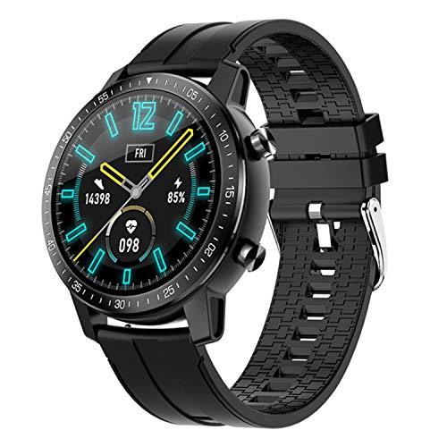 DOOK Smartwatch, Impermeable Reloj Inteligente con Cronómetro, Pulsera Actividad Inteligente para Deporte, Reloj de Fitness con Podómetro Smartwatch Mujer Hombre para Xiaomi HuaweiI Teléfono,Negro