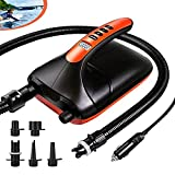 VACHAN 20PSI Electric SUP Air Pump-12V Car Connector Air Inflator, Intelligent Dual Stage & Auto-Off Inflation & Deflation Function, Paddle Board Pump for Boats, Inflatable Stand Up Paddle Boards