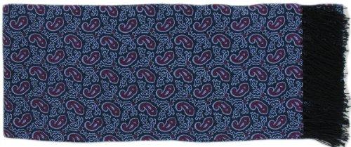 Michelsons of London Écharpe Bourgogne Petit Paisley Silk de