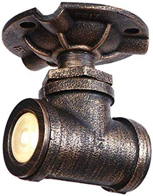 Aussenlampe Wandbeleuchtung Wandlampe Wandleuchte Innen Rustikaler Wasserpfeifen-Deckenleuchte-Kronleuchter 2 Retro-Rustikaler Rustikaler Steampunk-Schmiedekopf