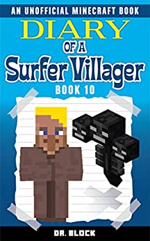 Book's Cover of Diary of a Surfer Villager: Book 10: (an unofficial Minecraft book for kids) (English Edition) Versión Kindle