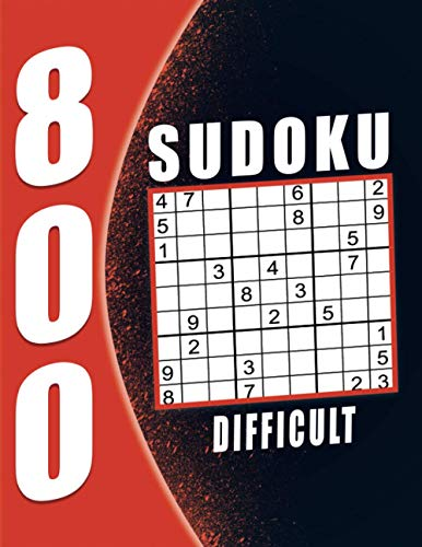 800 Difficult Sudoku Puzzle Book For Adults: Sudoku Puzzles for Adults with...