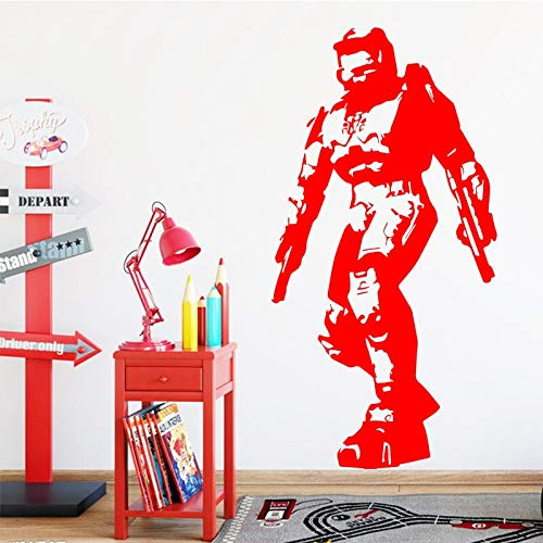Wopiaol Naam-graffiti-muursticker, regenboog-behang, muurkunst, weelderige oorloggers, wandkamer, startpagina DL 43 cm x 84 cm