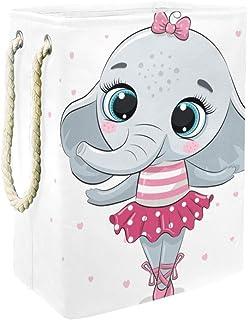 Yuzheng Éléphant Cartoon Animal Poubelle d'organisateur de Stockage de Panier à Linge pour Les vêtements, Chambre d'enfant...