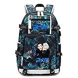 Bgdo.cccc Borse scuola Zainetti per bambini Sportivo Fitness Viaggio Zaino Unisex Misura Anime YURI on ICE Laptop School Bags Travel Rucksack,2