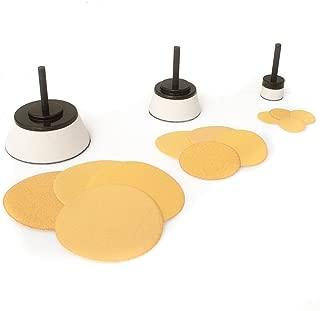 15 Piece Sanding Disc and Soft Foam Mandrel Set 1 inch, 2 inch and 3 inch Mandrels with 12 Sanding Discs. Ideal For Wood Turners, Bowl Sanding, Contour Sanding, Convex or Concave Surfaces
