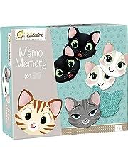 Avenue Mandarine Memory Domino (met 28 kaarten van karton, ideaal voor de motoriek van je kind) 1 pak