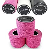 EVERFLY Tape Crossfit - Set 3 Rollos 5cm x 4,5m - Esparadrapo Deportivo - Hook Grip Pulgares y Dedos - Cinta Flexible Protectora - Agarre Adhesivo para Pesas - Entrenamiento - Halterofilia (Rosa)