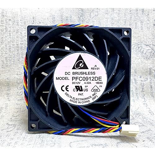 Large Air Volume Delta PFC0912DE 9238 DC12V 4.32A 9CM Server Cooling Fan
