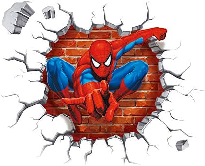 Spiderman Wall Stickers DIY Removable Spiderman Children Themed Art Boy Room Wall Sticker Bedroom product image