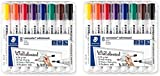 Staedtler Lumocolor 351 WP8 - Rotulador para pizarra blanca (punta redonda, 2 mm, 8 colores), 1 Pack, multicolor