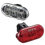 CatEye Omni 3 F/R Set TL-LD135 - Luces de Ciclismo y reflectores, Color Negro