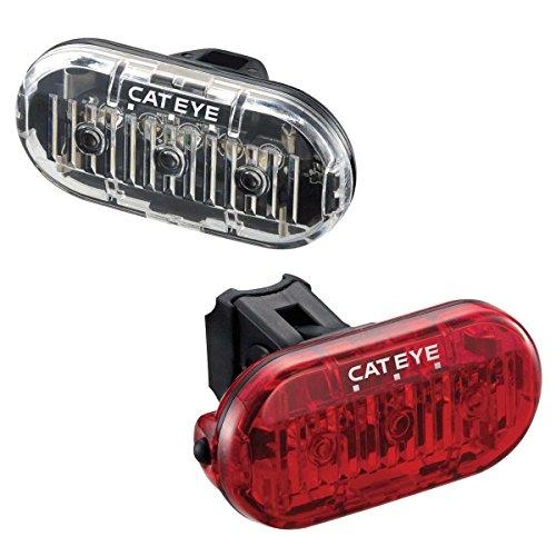 CatEye Omni 3 F R Set TL-LD135 - Luces de Ciclismo y reflectores, Color Negro