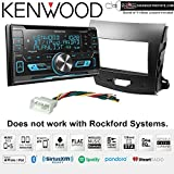 Kenwood Excelon DPX593BT CD Receiver with Bluetooth + Install kit for 2007-2013 Mitsubishi Outlander with Sots Lanyard Bundle