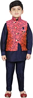 SG YUVRAJ Pathani Kurta, pent with Jacket Sets For Boys(UP-GD-162)