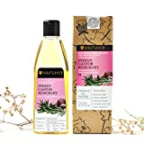 Soulflower Cold Pressed Castor & Rosemary Hair Nourishment Oil Pure and Natural For Hair Growth & Hair Loss, 6.77 Fl.Oz- Natural Hair Oil For Unique Shine