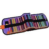 Lápices de colores de bolsa de lona en 72 colores, lápices hexagonales de bolsa de lona enrollable, juego de pintura de estudiante, utilizado para la pintura en casa, práctica de la pintura