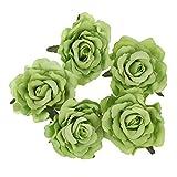 Noblik Rose Flower Hair Clip Dancer Pin Up Flower Broche 5 Paquetes Verde...