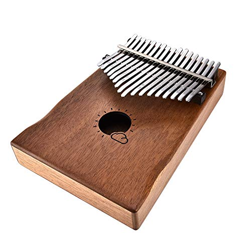 Donteec 17 toetsen Kalimba duim piano, mahonie fineer duim piano draagbare instrument Mbira duim piano muziek boek duim piano doos