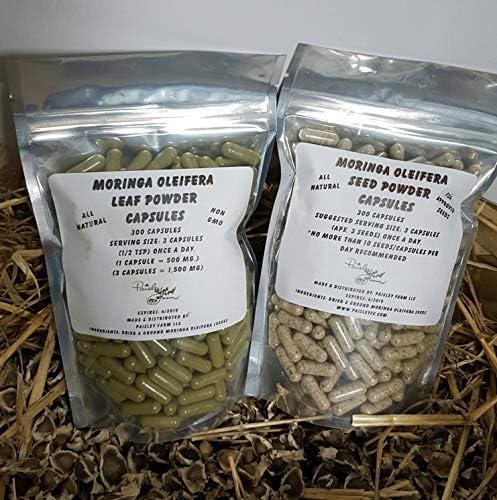 Moringa Leaf Powder Capsules Moringa Seed Powder Capsules Value Pack Made Fresh On Demand 1200 product image