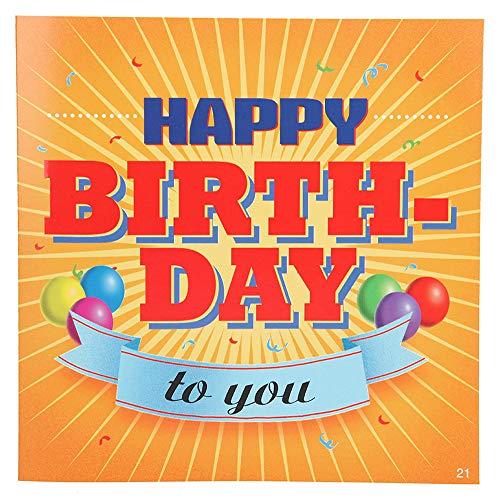 Depesche 3868.021 Glückwunschkarte mit Musik, Geburtstag, Mehrfarbig