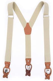 environ 3.48 cm Large Y Forme Réglable Bouton Homme Bouton Fin Bretelles Bretelles 1.37 in
