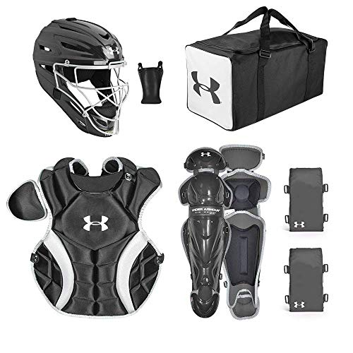 Under Armour PTH Game Ready Catching Kit, Meets NOCSAE, Ages 9-12, Black