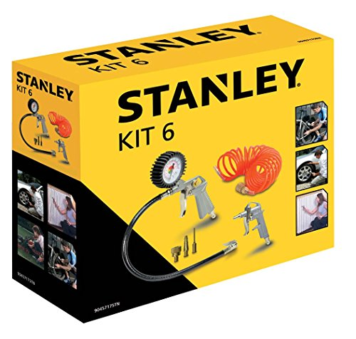 Stanley Kit 6 Pezzi Set per Aria Compressa - Kit