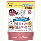 ミャウミャウ キャットフード カリカリ小粒タイプミドル ささみ味 成猫用 580グラム (x 1)