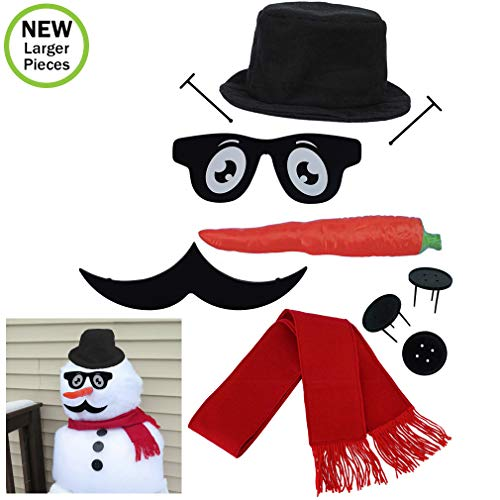 Evelots Snowman Decorating Kits-Fun for for The Entire Family-Sturdy Prongs
