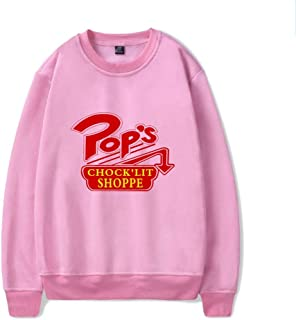 Riverdale Adult Unisex Sweatshirt Classic Round/Crew Neck Sports Casual Solid Color Printing Sweater Printing Tracksuit Sportswear Long Sleeve Cool and Breathablepink-XXL