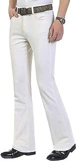HAORUN Men Corduroy Bell Bottom Flares Pants Slim Fit 60s 70s Vintage Bootcut Trousers