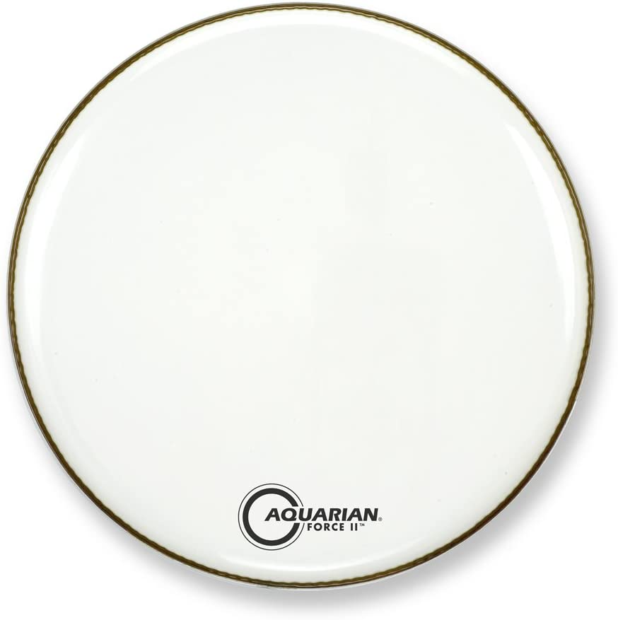 Aquarian Drumheads FR16WH Force II gloss Drum Head 16-inch Nashville-Davidson Mall Fees free Bass