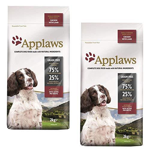 KRISP 2 x 2kg Applaws Small Medium Dog Dry Food Chicken Lamb Meat Natural Pet Snack