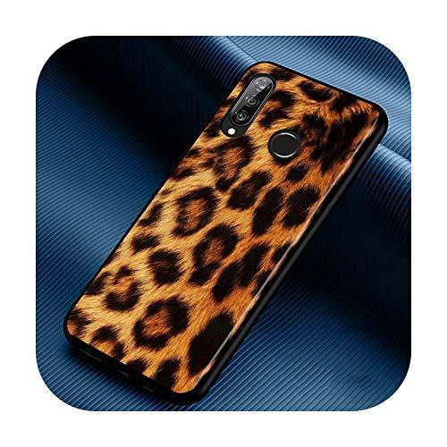 Phone cover Funda de silicona con estampado de leopardo para