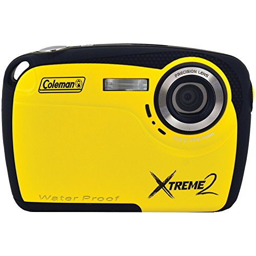 Coleman Xtreme II C12WP-Y 16MP Waterproof Digital Camera with 2.5-Inch LCD Screen (Yellow)
