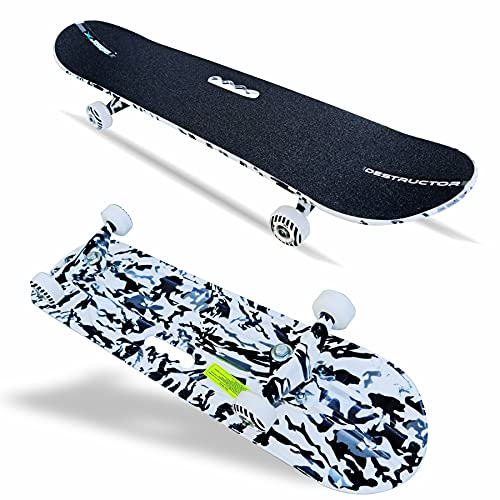 jaspo Fiber Composite Destructor Camouflage Fiber Skateboard Suitable for Age Group Above 8 Years (Multicolour, 31x8 Inches)