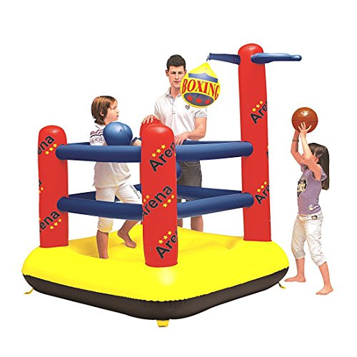 Jilong JL097013NPF - Saltador hinchable ring de boxeo,