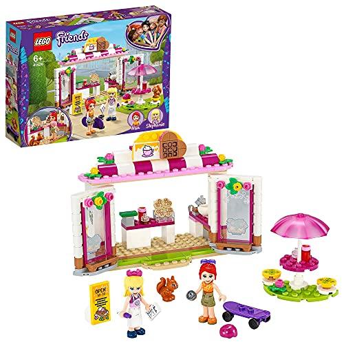 LEGO 41426 Friends Cafetería del Parque de Heartlake City, Set de Construcción con Cocina de Juguete y 2 Mini Muñecas
