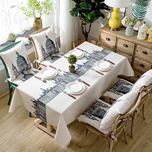 YOUZI tovaglia Rettangolare, tovaglia Castello Moda Dimensioni 140 × 240 cm Cucina Tavolo da Pranzo da Giardino Lavabile Impermeabile